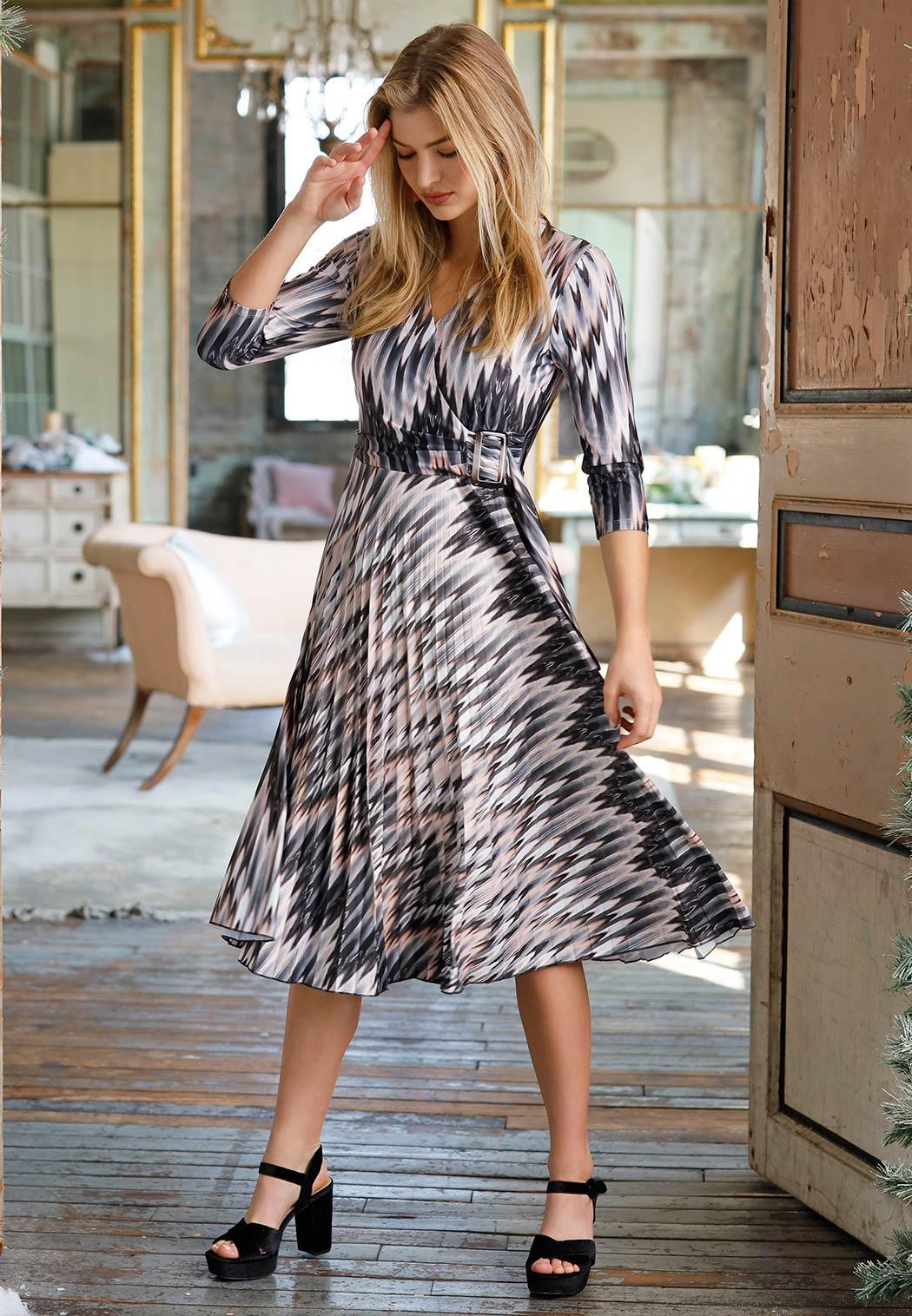 Silky Chevron Dress (Item #44052176)