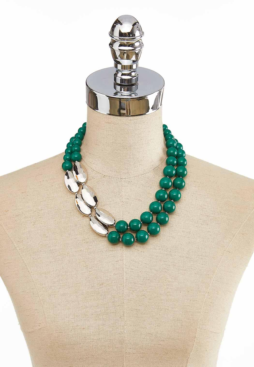 Layered Colored Bead Necklace (Item #44052371)