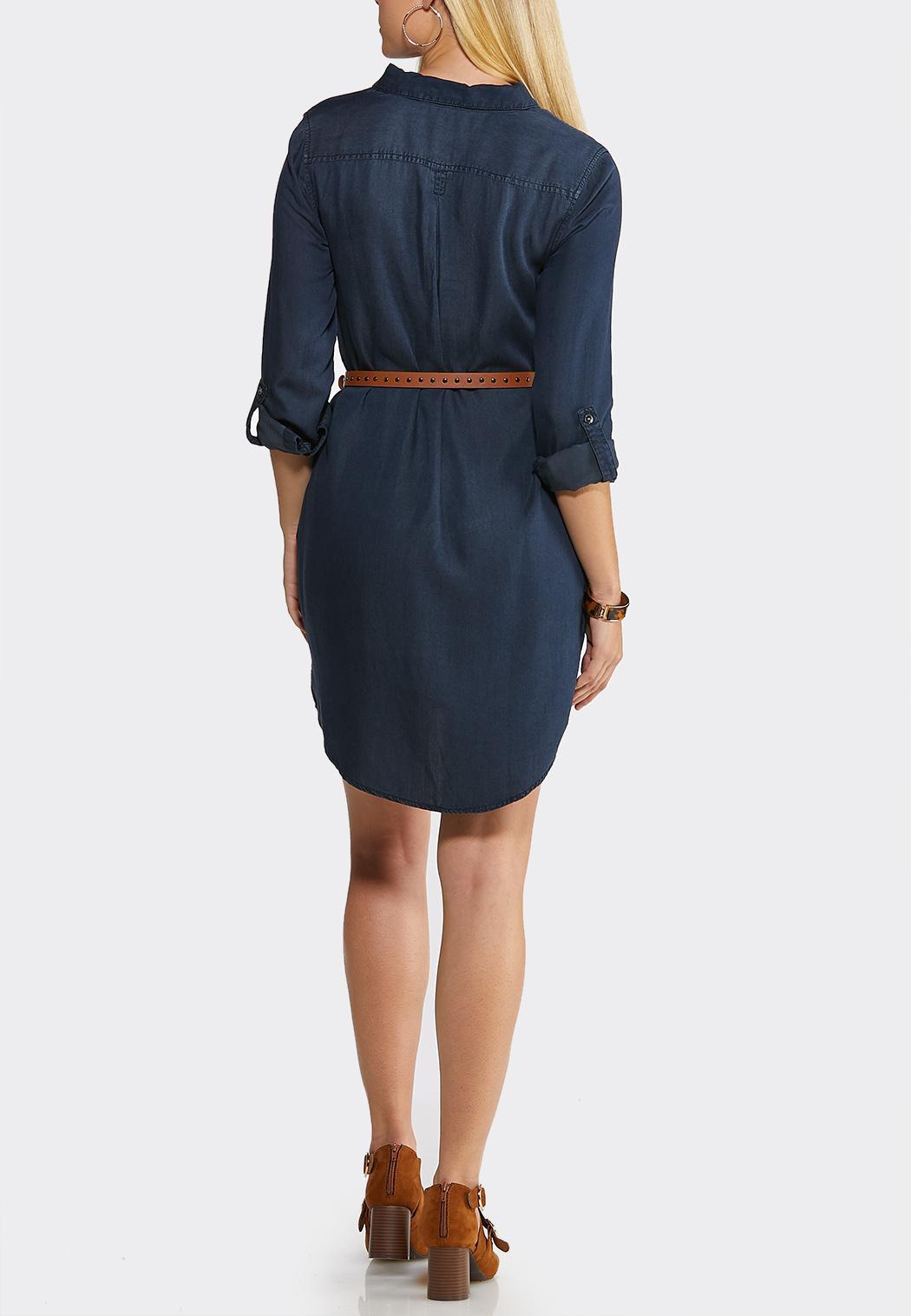 Denim Shirt Dress (Item #44052401)