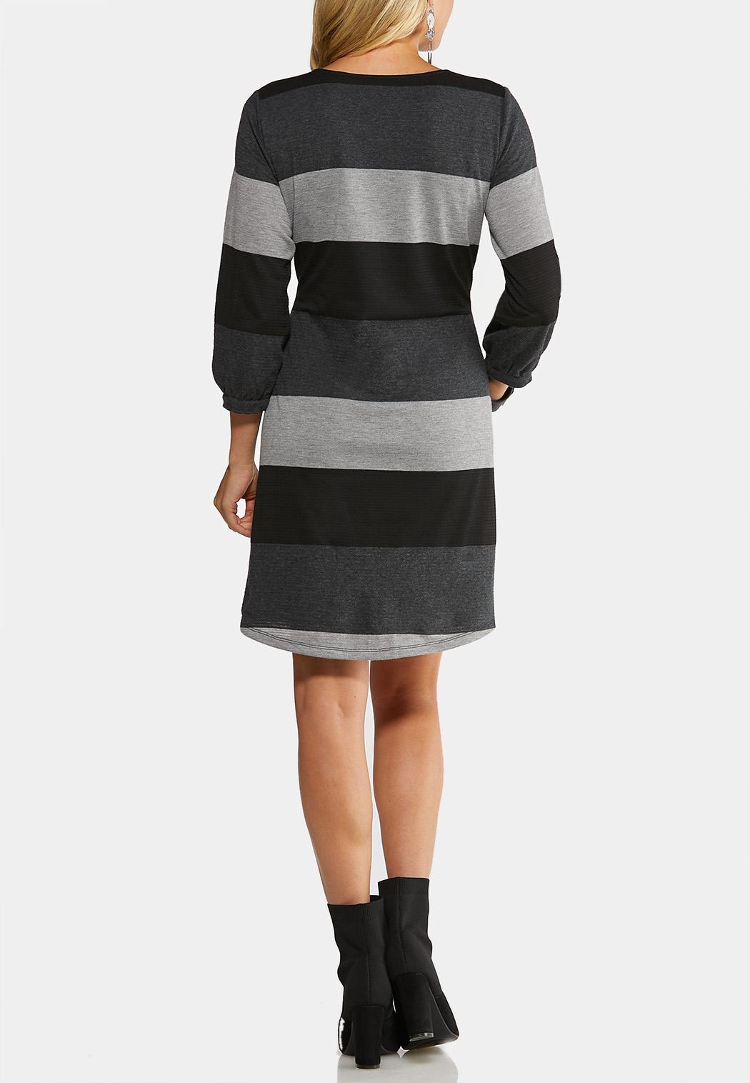 Stripe Tie Waist Dress (Item #44052434)
