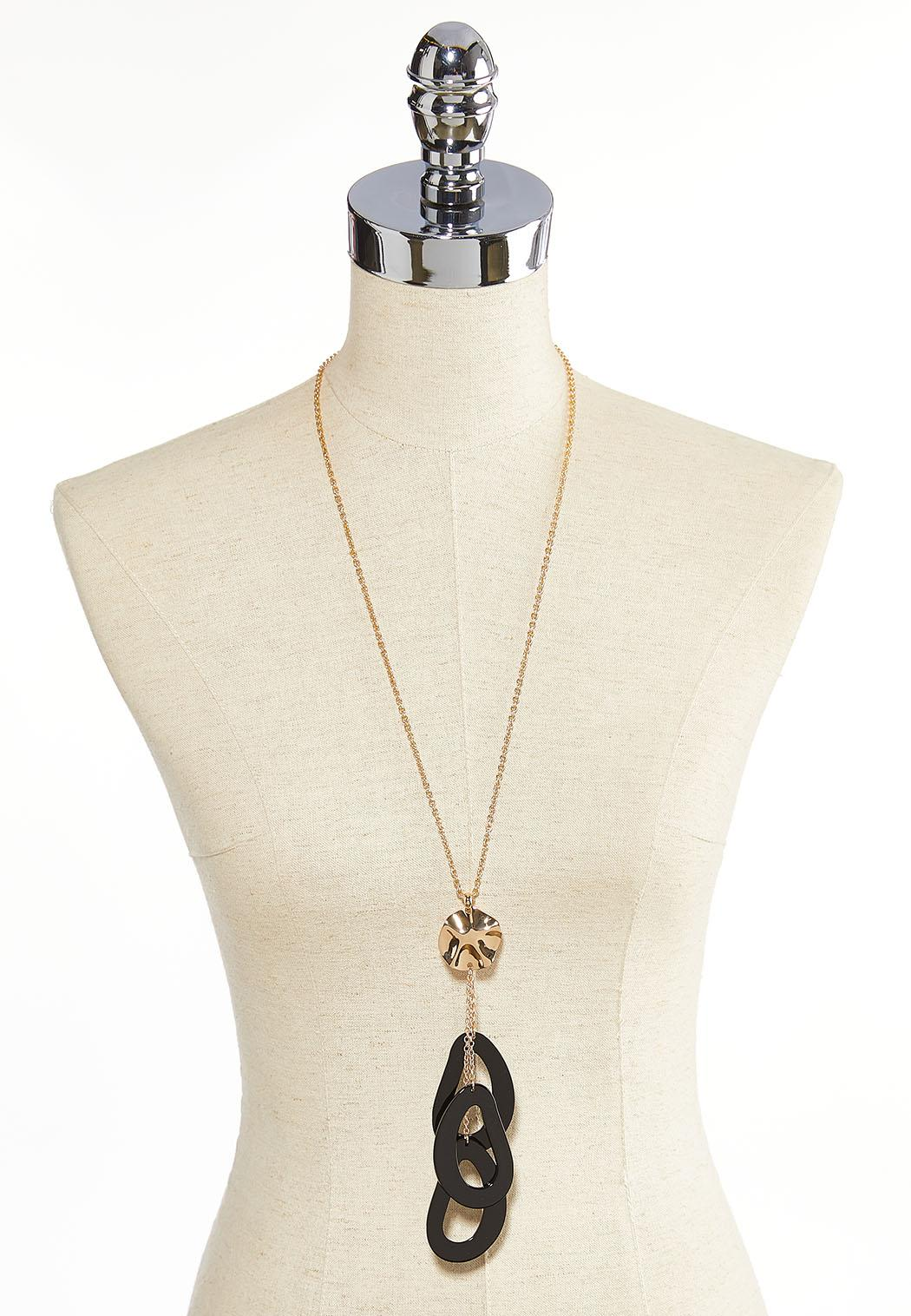 Oval Lucite Charm Necklace (Item #44052495)