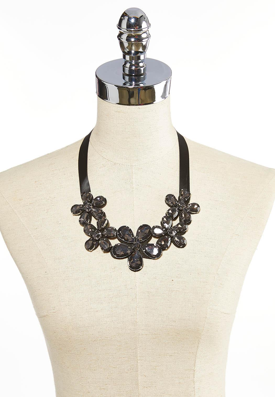 Acrylic Flower Statement Necklace (Item #44052497)