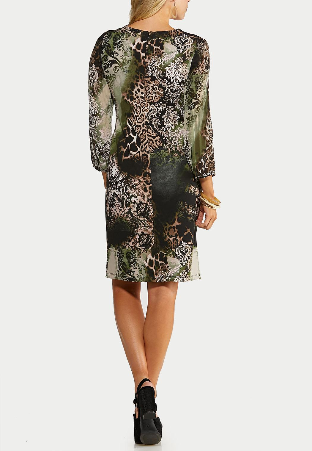 Plus Size Multi Print Sheath Dress (Item #44052759)