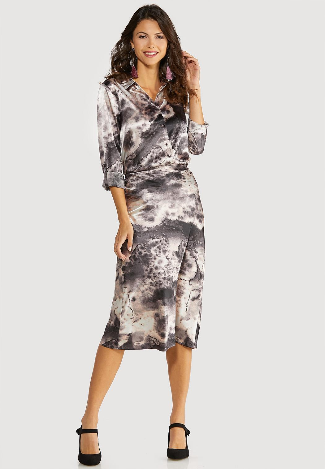 Marble Dye Slip Skirt (Item #44053480)