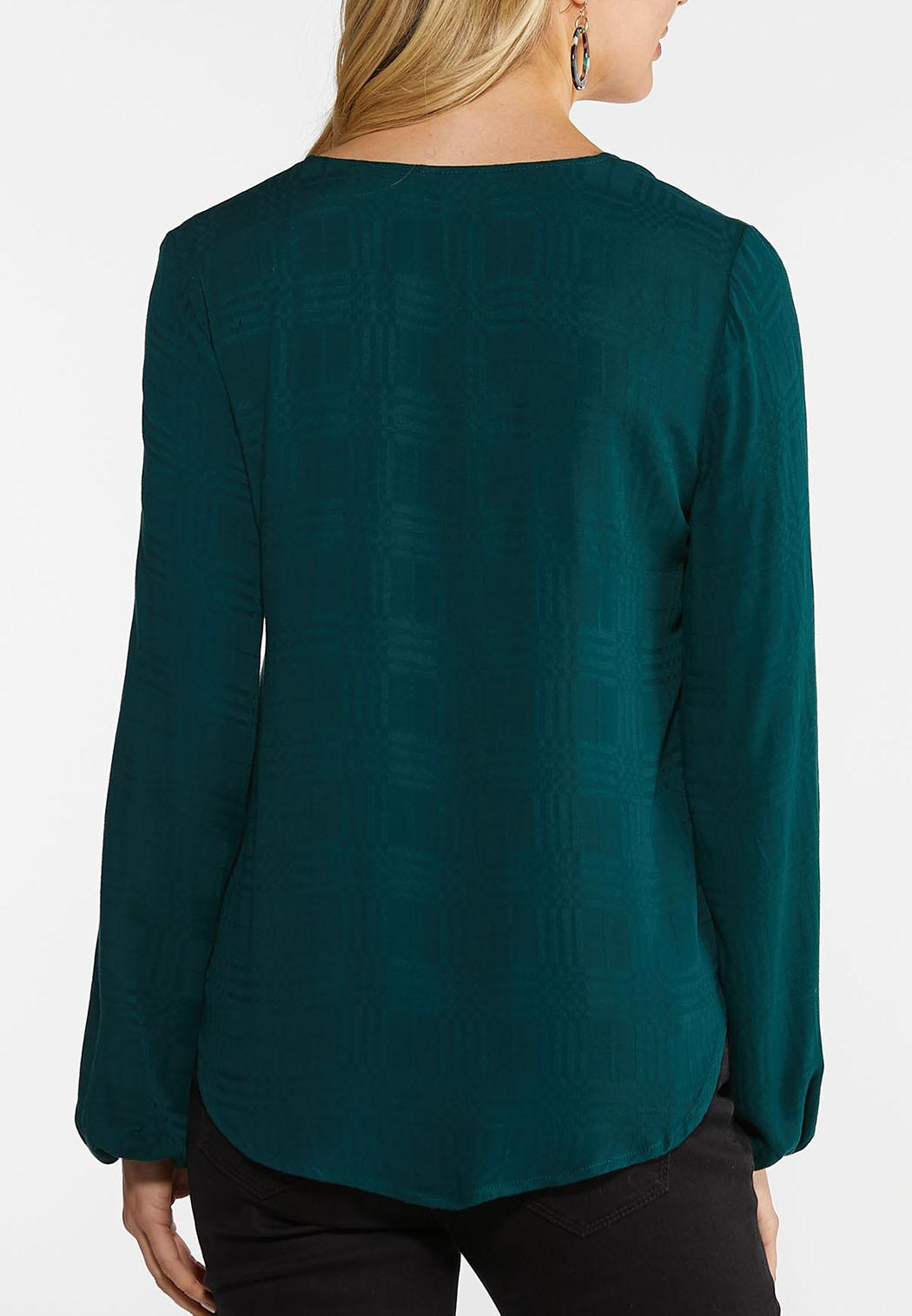 Green Button Tie Front Top (Item #44054948)