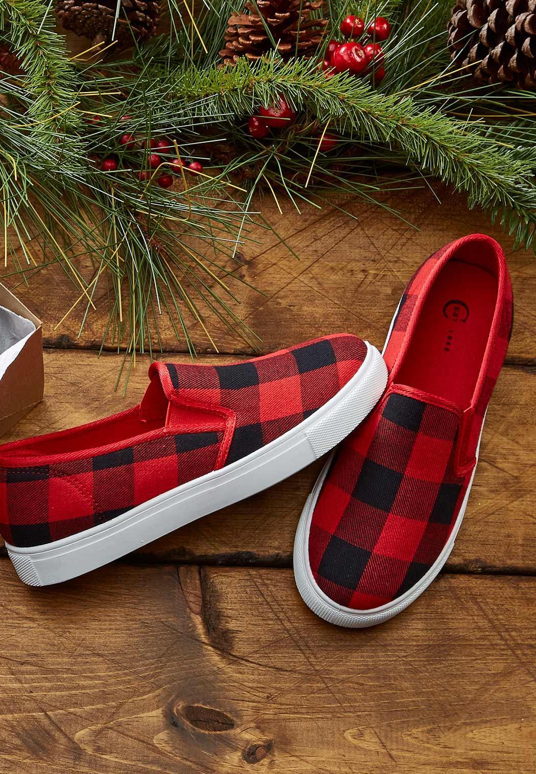 Plaid Slip-On Sneakers (Item #44056447)