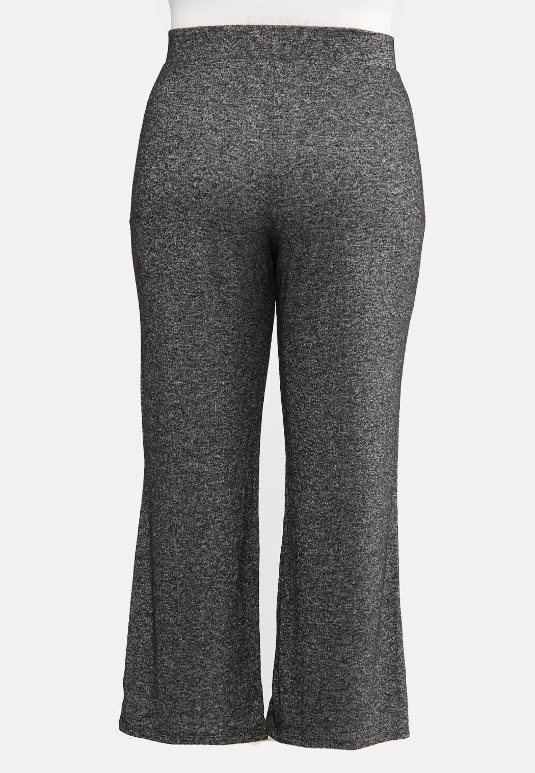 Plus Size Tie Front Hacci Pants (Item #44057203)