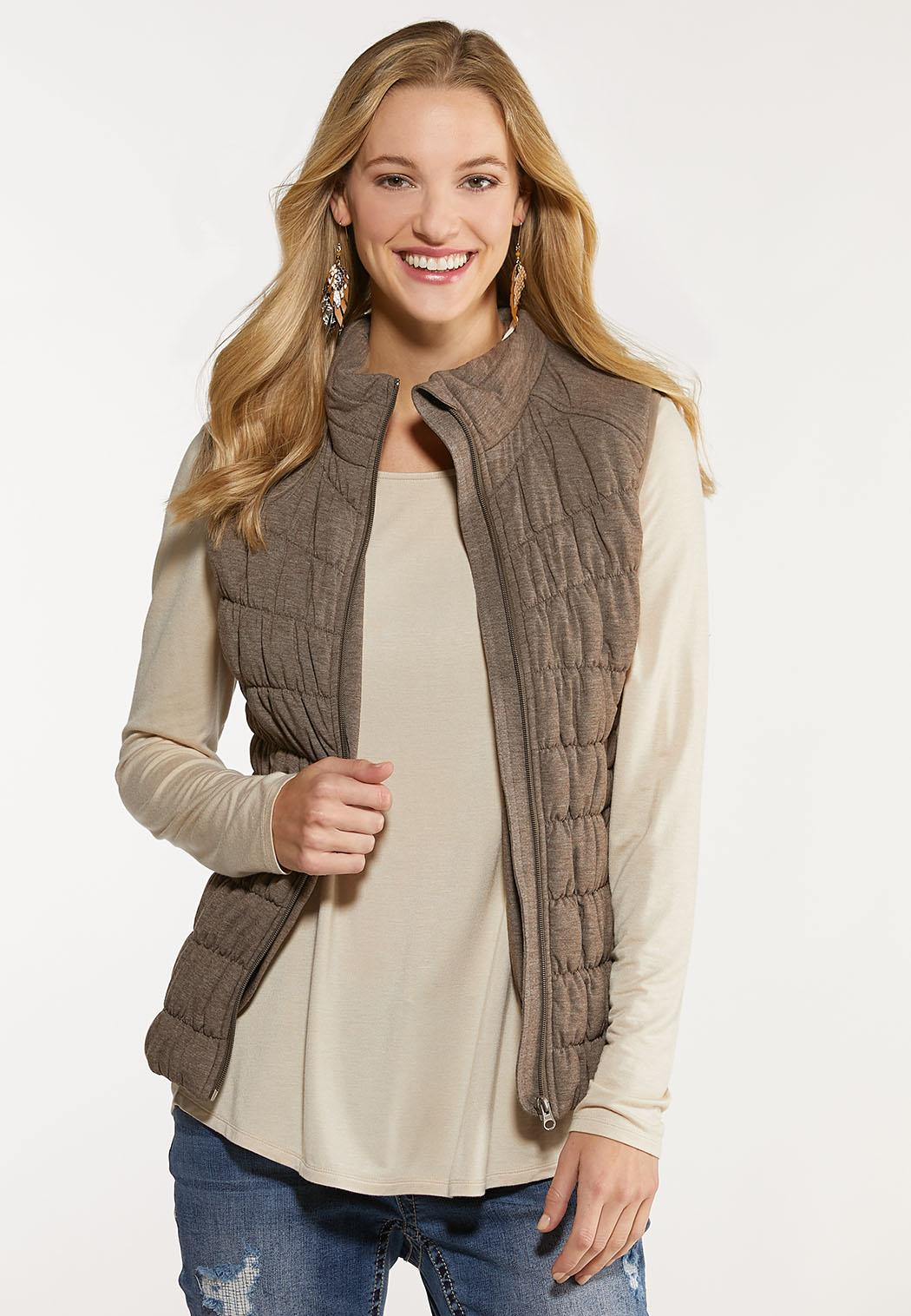 Plus Size Zip Up Puffer Vest (Item #44057364)