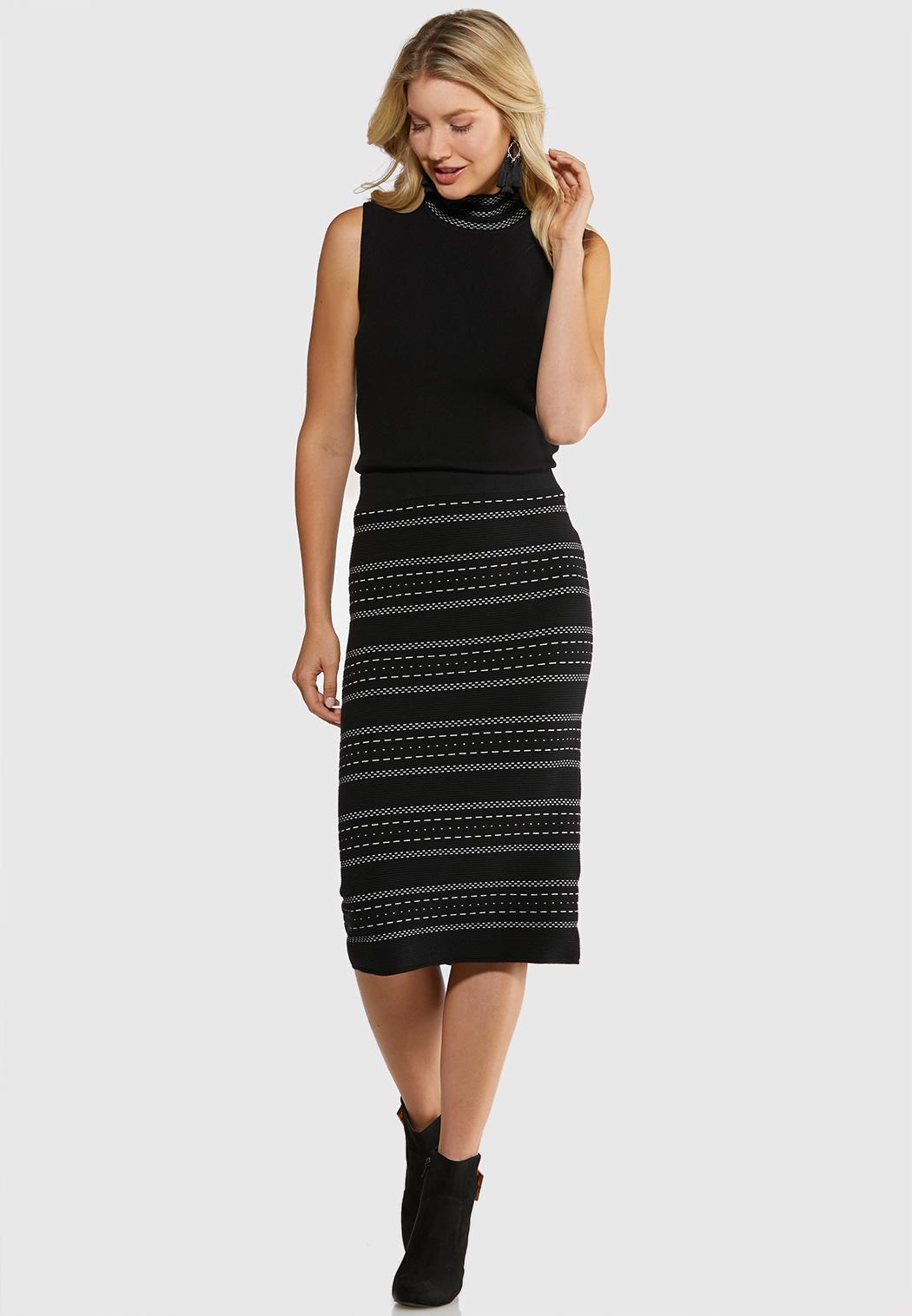 Plus Size Sweater Pencil Skirt (Item #44057481)