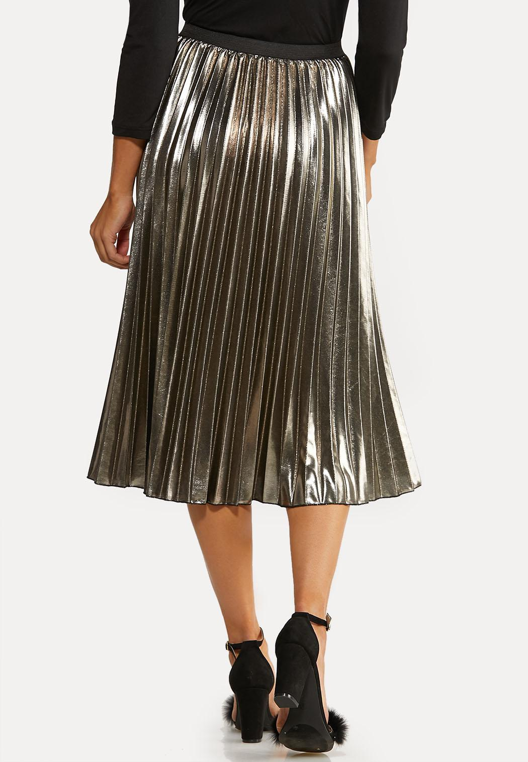 Metallic Pleated Party Skirt (Item #44057556)