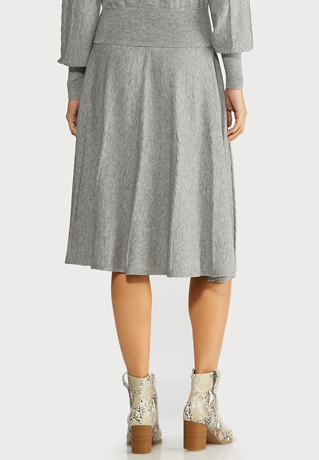 Gray Cable Knit Skirt (Item #44057568)