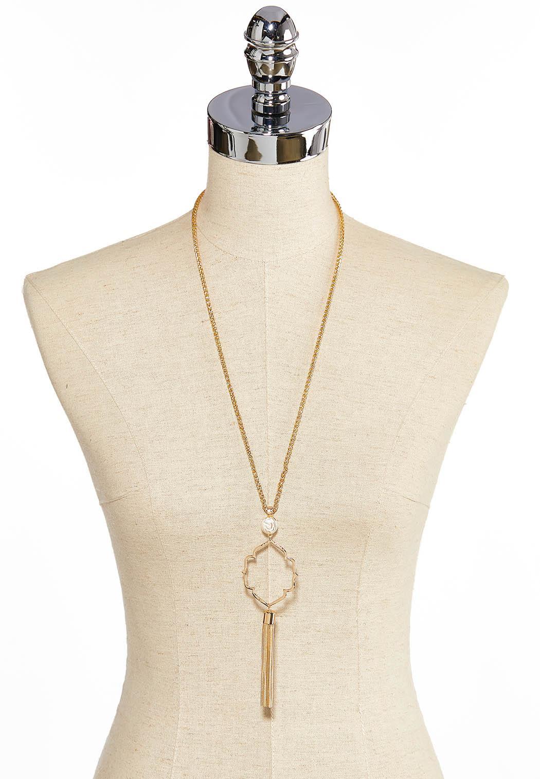 Medallion Tassel Pendant Necklace (Item #44057709)