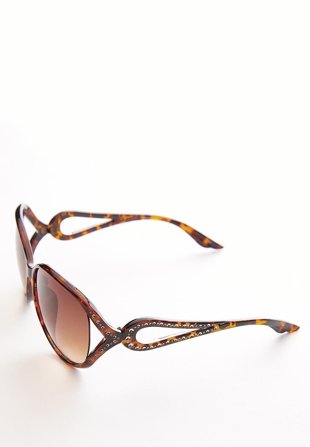 Rhinestone Side Round Sunglasses (Item #44057728)