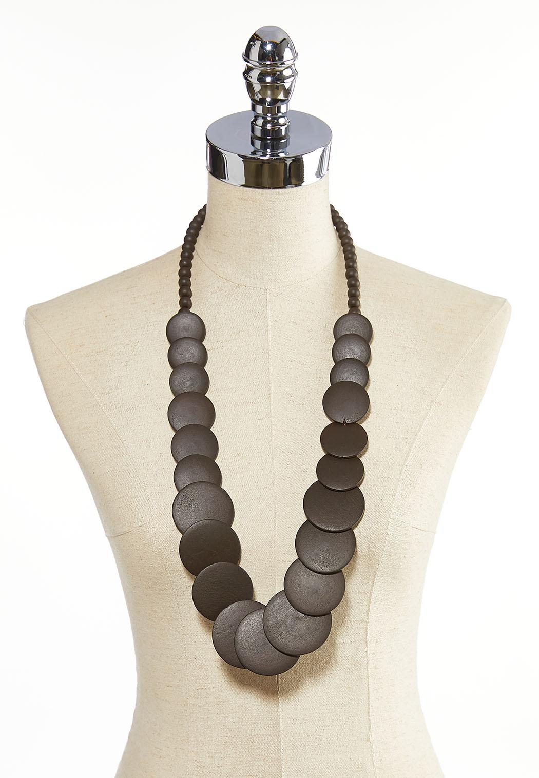 Layered Multi Circle Necklace (Item #44058609)