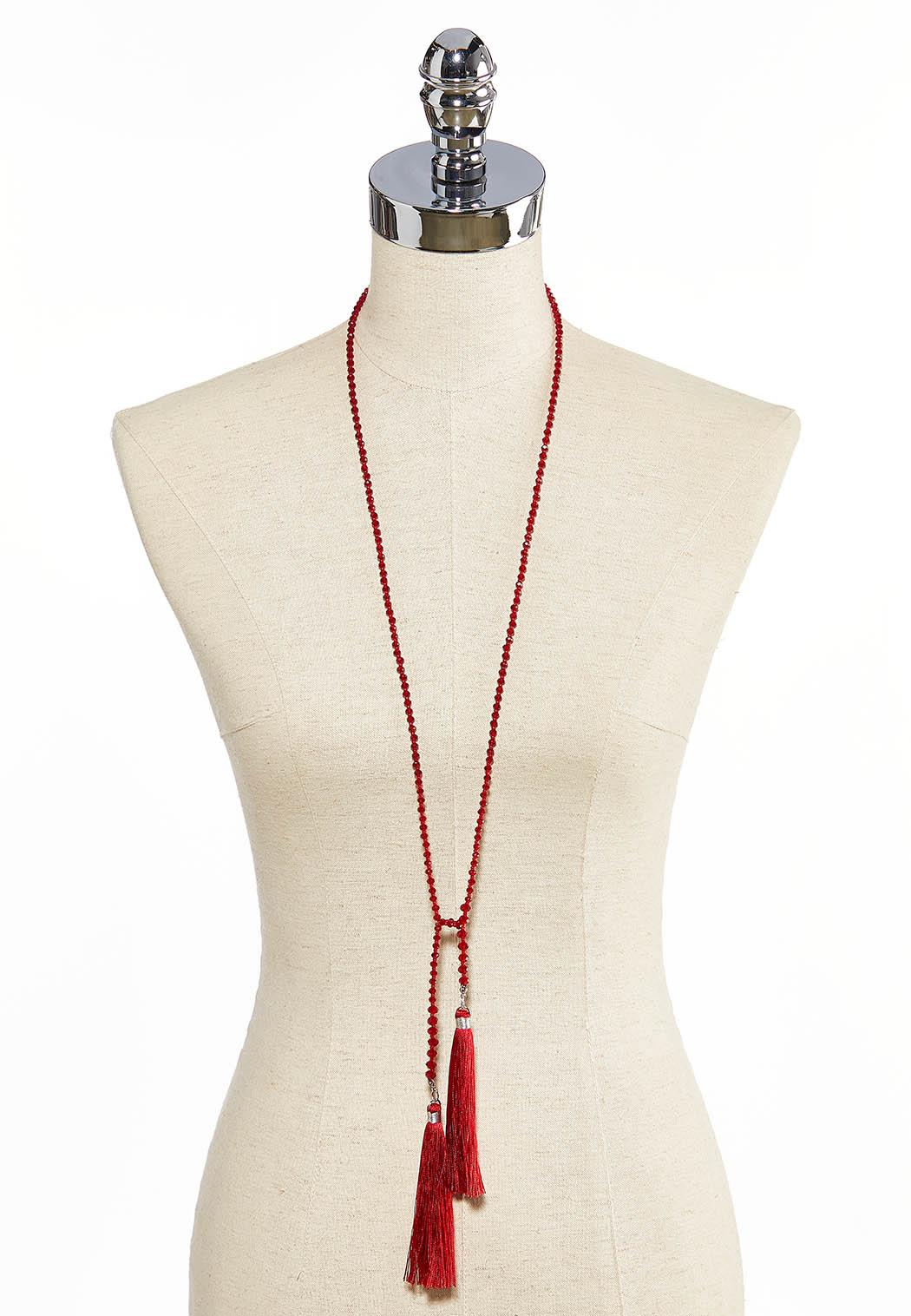Knotted Tassel Necklace (Item #44058652)