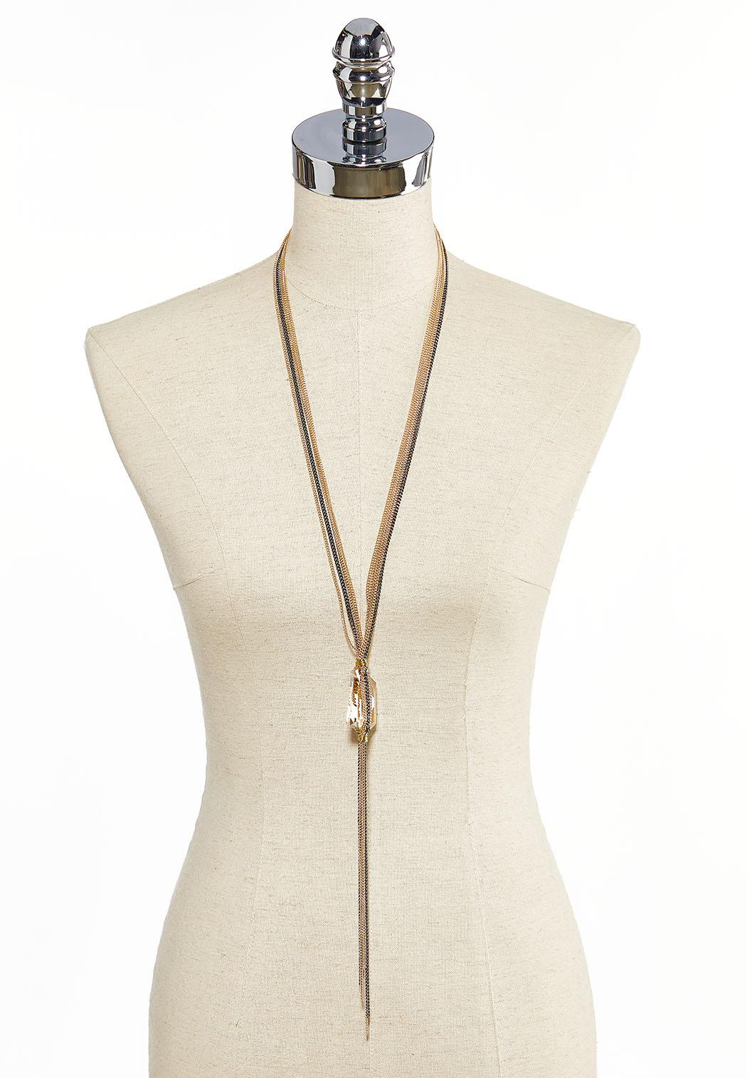 Glass Multi Chain Necklace (Item #44058660)