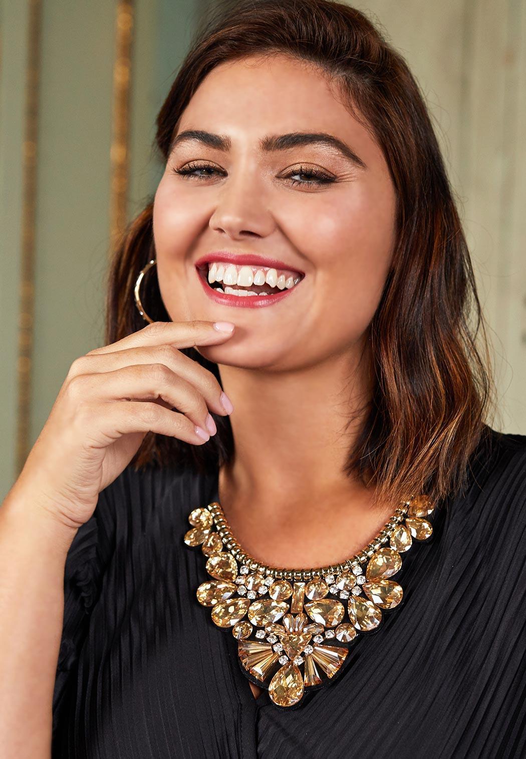 Jeweled Ribbon Necklace (Item #44058691)