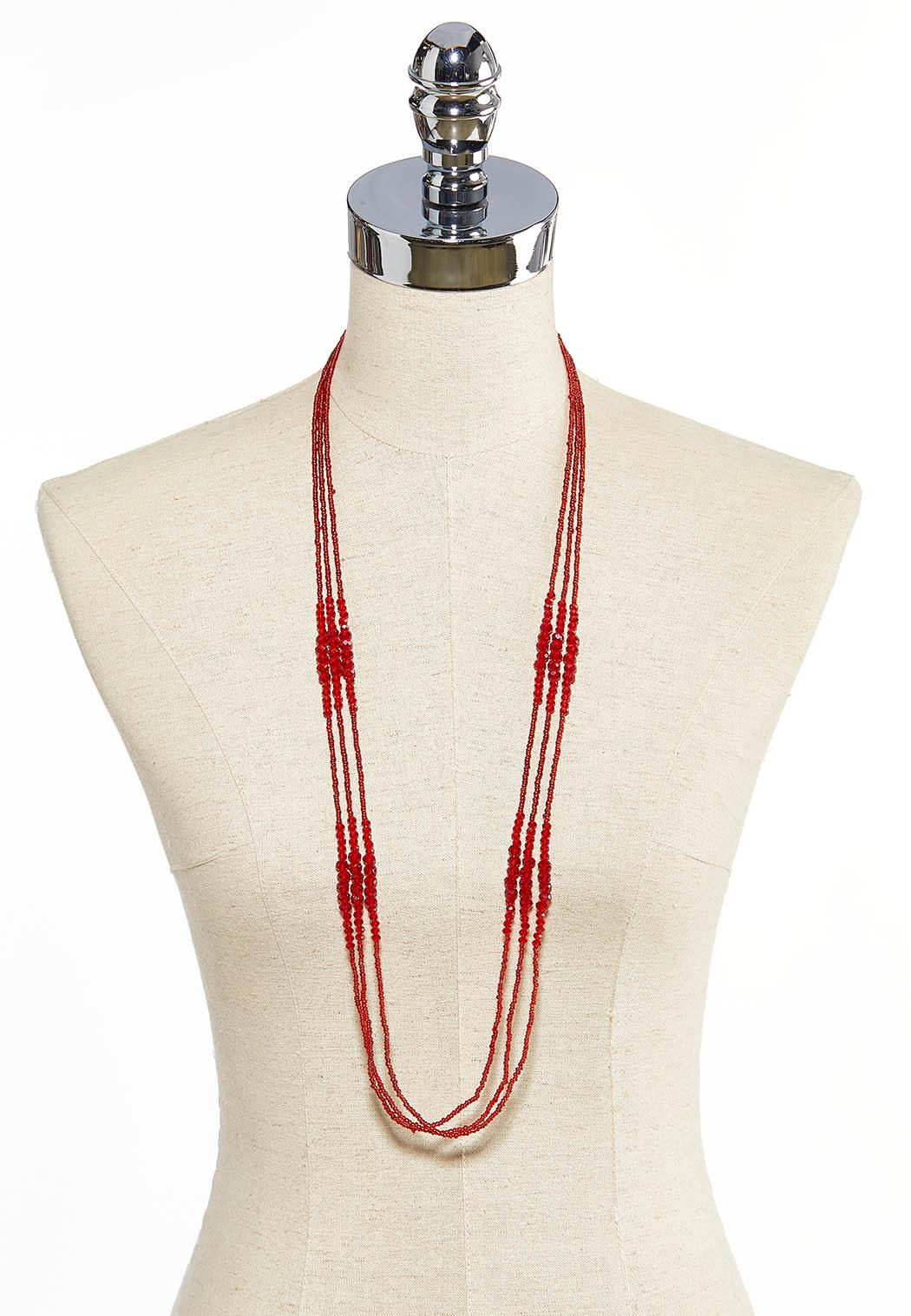 Layered Seed Bead Necklace (Item #44058729)