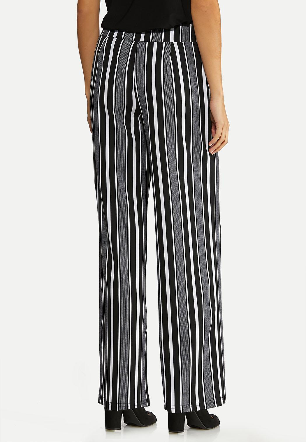 Petite Modern Stripe Wide Leg Pants (Item #44058856)