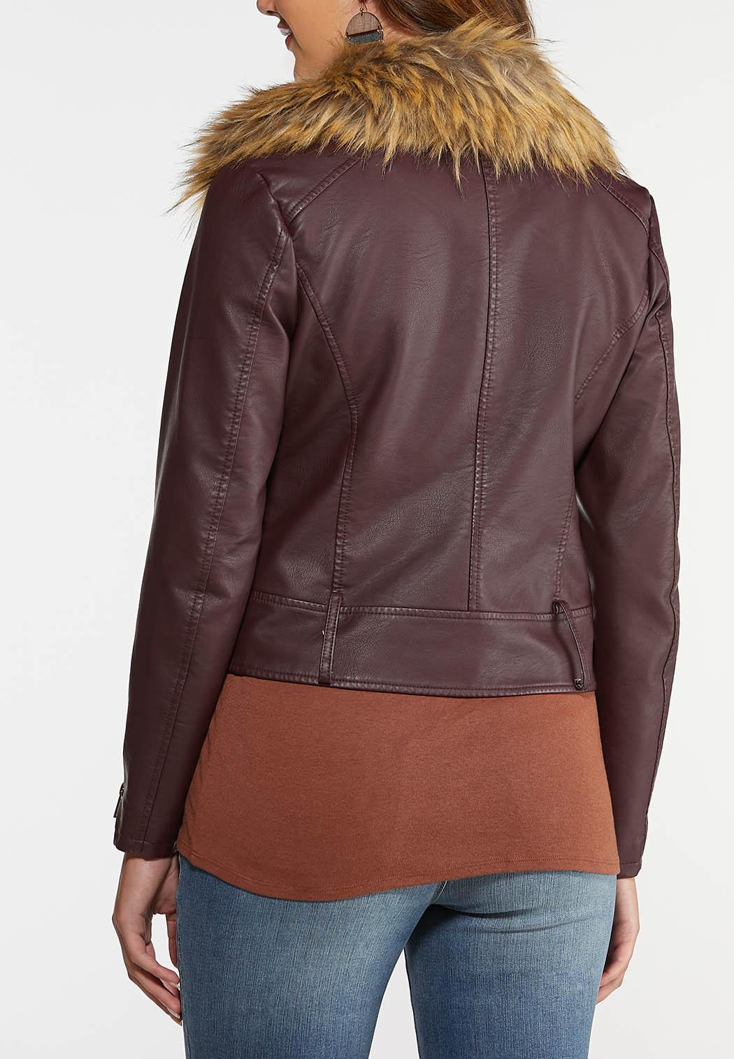 Fur Trimmed Moto Jacket (Item #44059276)