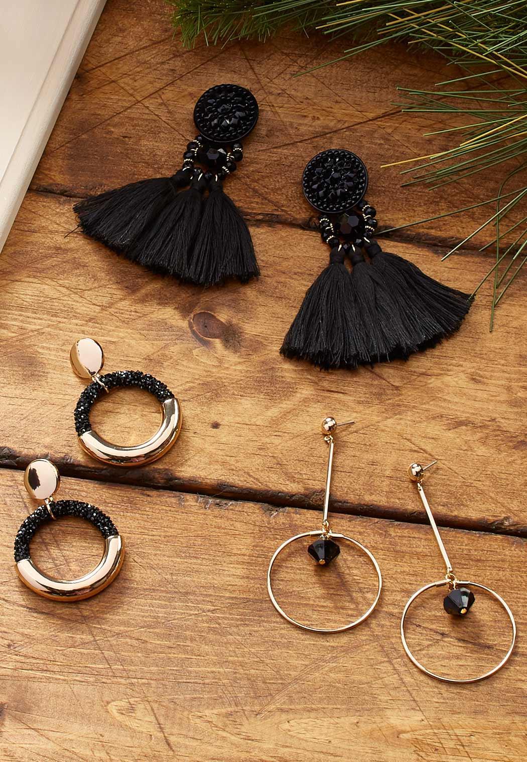 Linear Bead Earrings (Item #44059445)