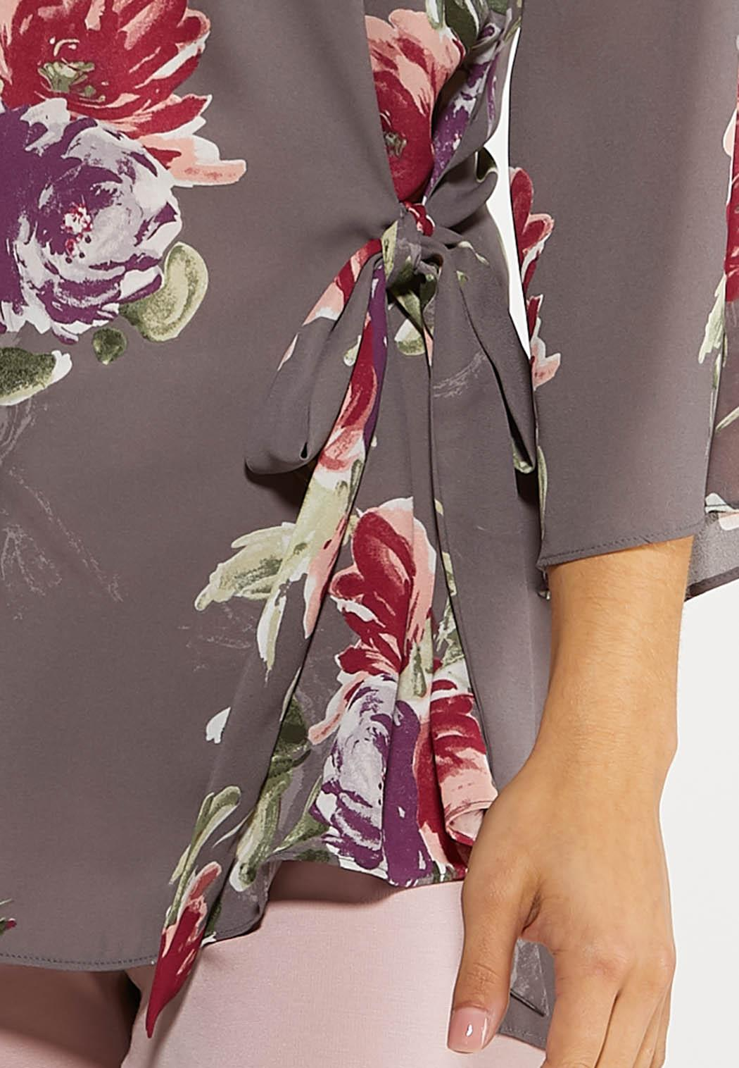 Floral Tie Front Tunic (Item #44059533)