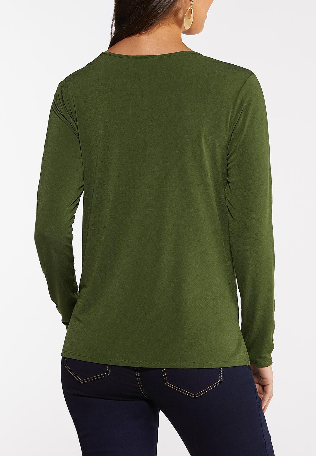 Plus Size Zipper Hardware Top (Item #44060703)
