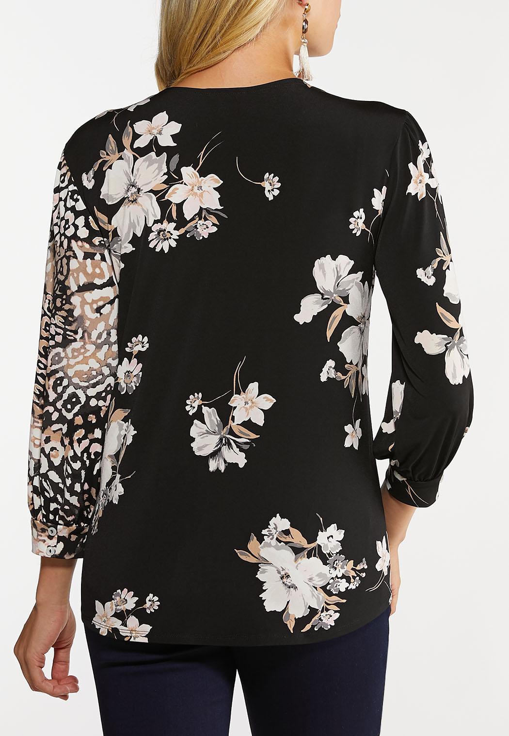 Plus Size Blush Floral Top (Item #44060734)