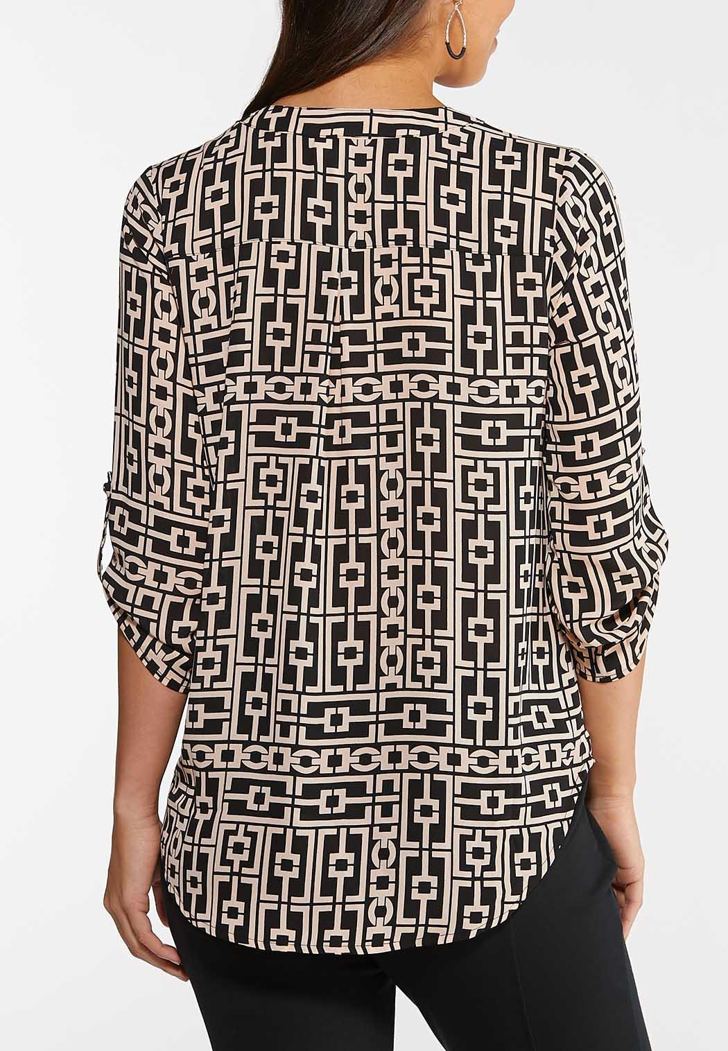 Plus Size Printed Tunic Top (Item #44062785)