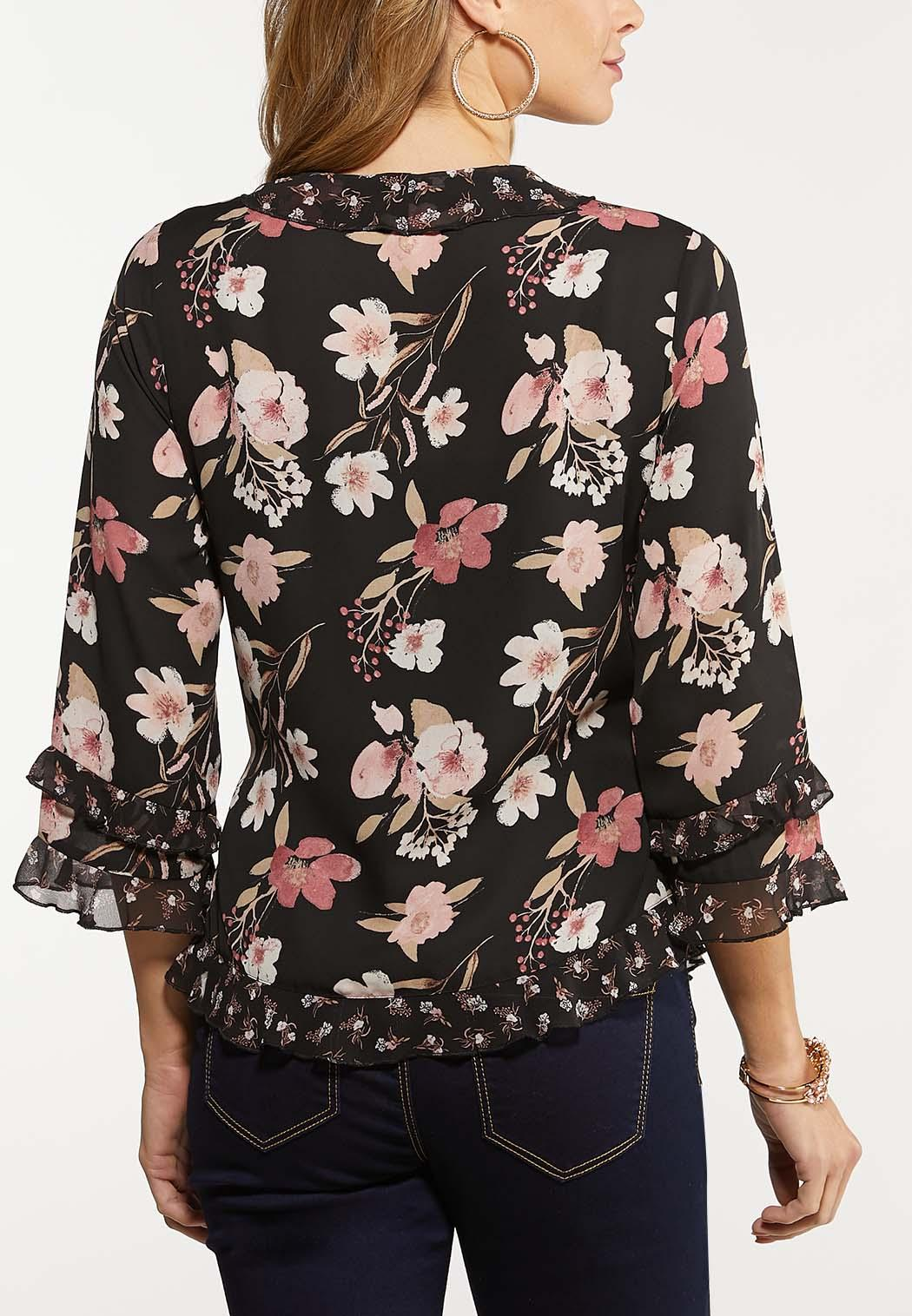 Floral Ruffle Wrap Top (Item #44063766)