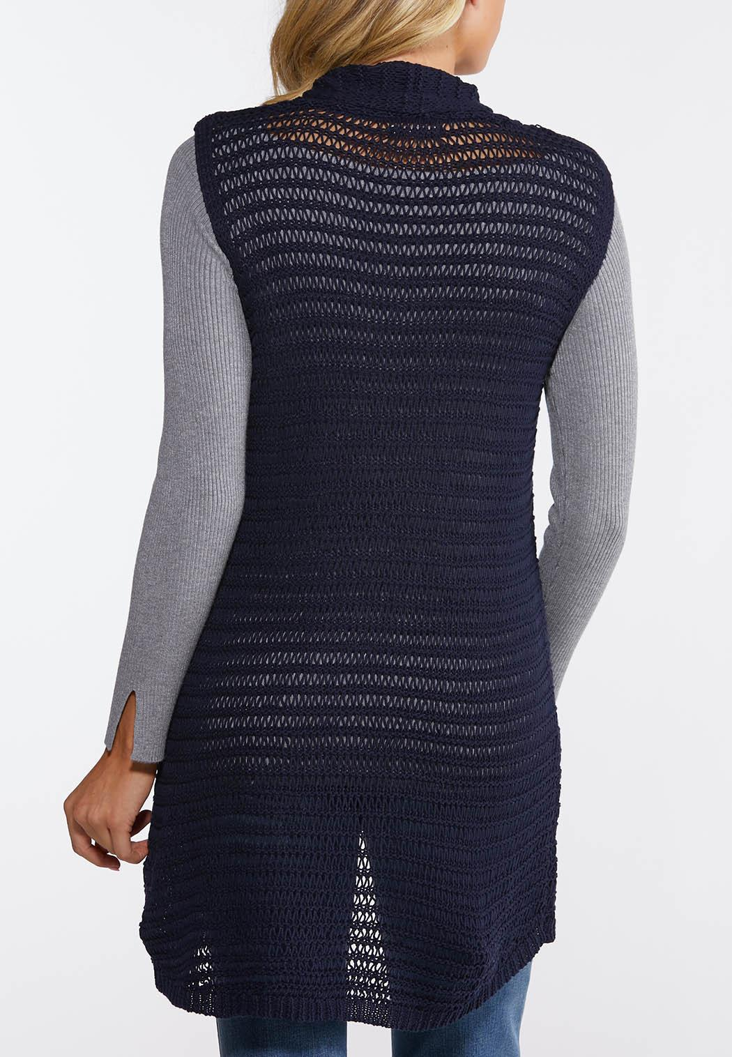 Plus Size Navy Sweater Vest (Item #44064075)