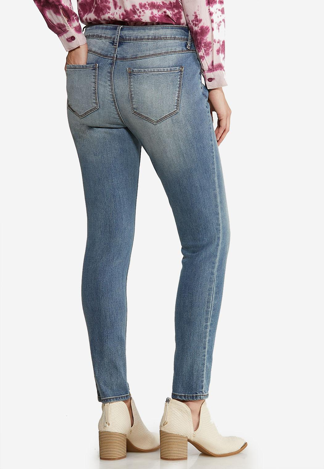 Faded Skinny Ankle Jeans (Item #44065110)