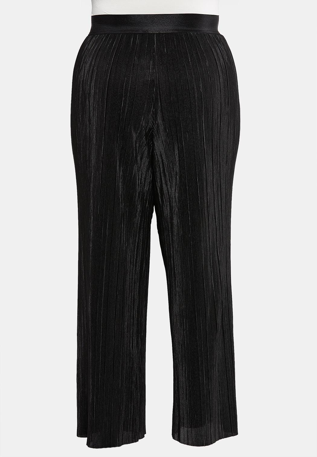 Plus Size Pleated Wide Leg Pants (Item #44065450)