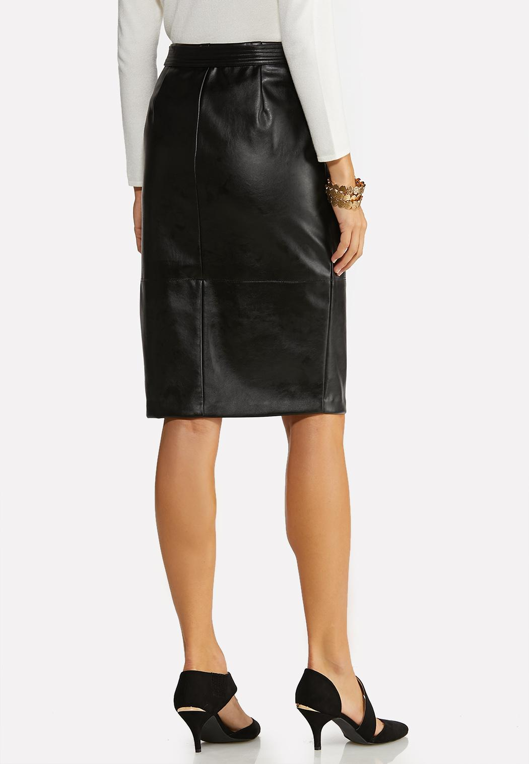 Faux Leather Pencil Skirt (Item #44065512)