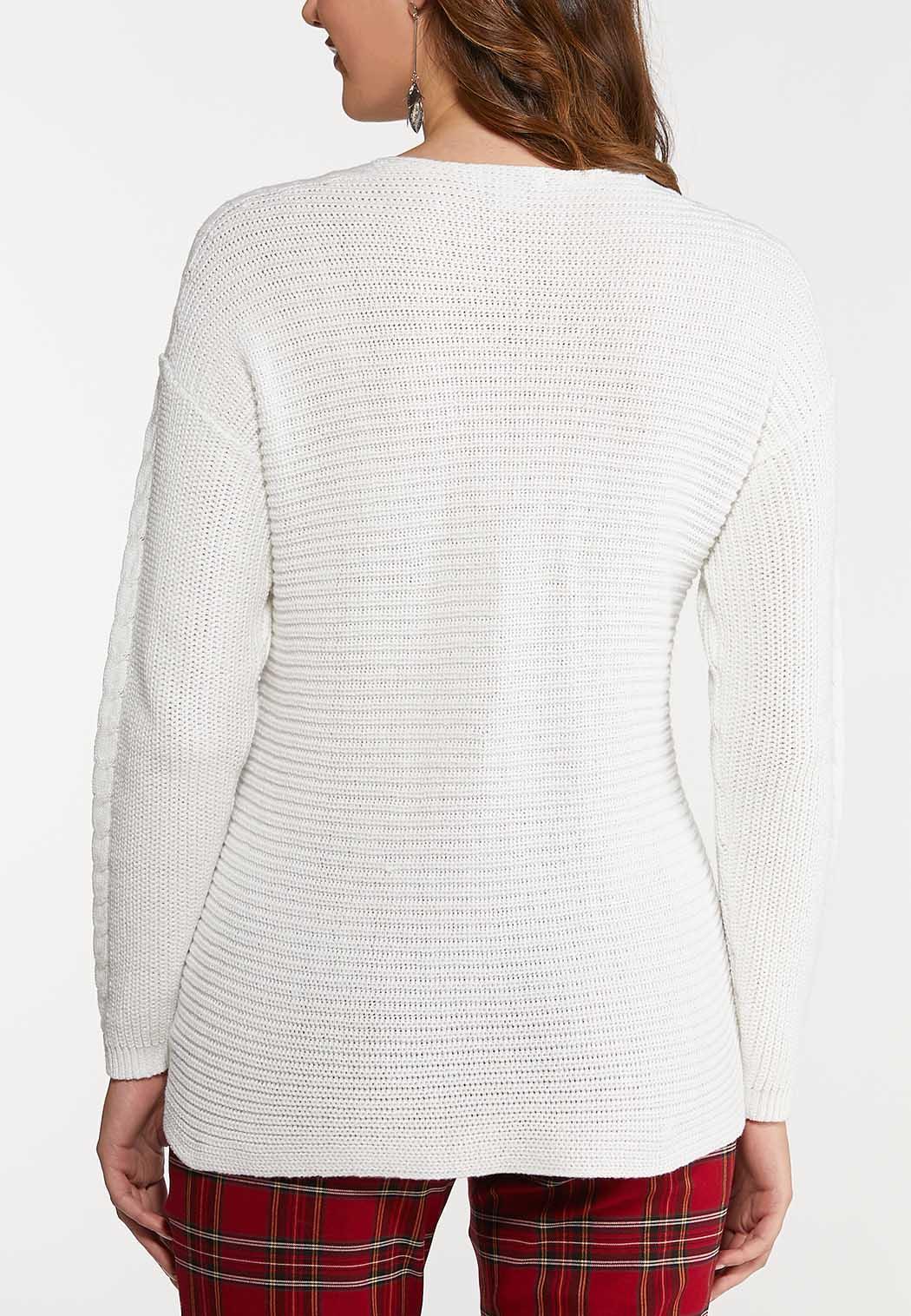 Plus Size Lace Neck Sweater (Item #44066043)