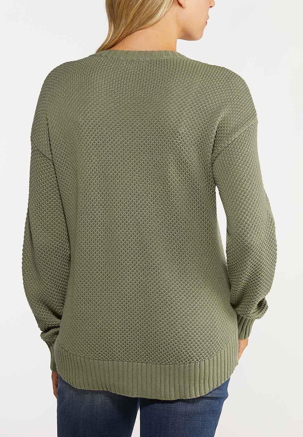 Plus Size Stitch Skimmer Sweater (Item #44066061)