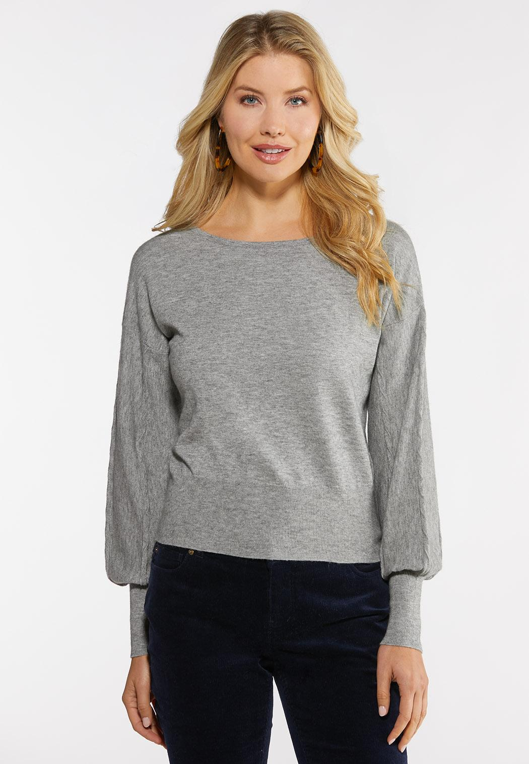 Gray Cable Knit Sweater (Item #44066162)