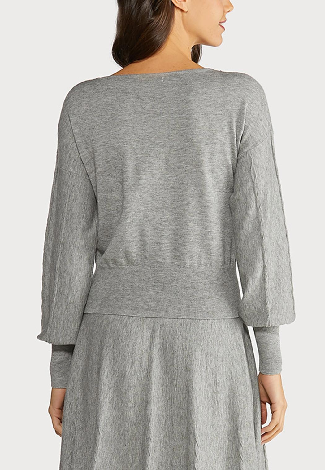 Plus Size Gray Cable Knit Sweater (Item #44066173)