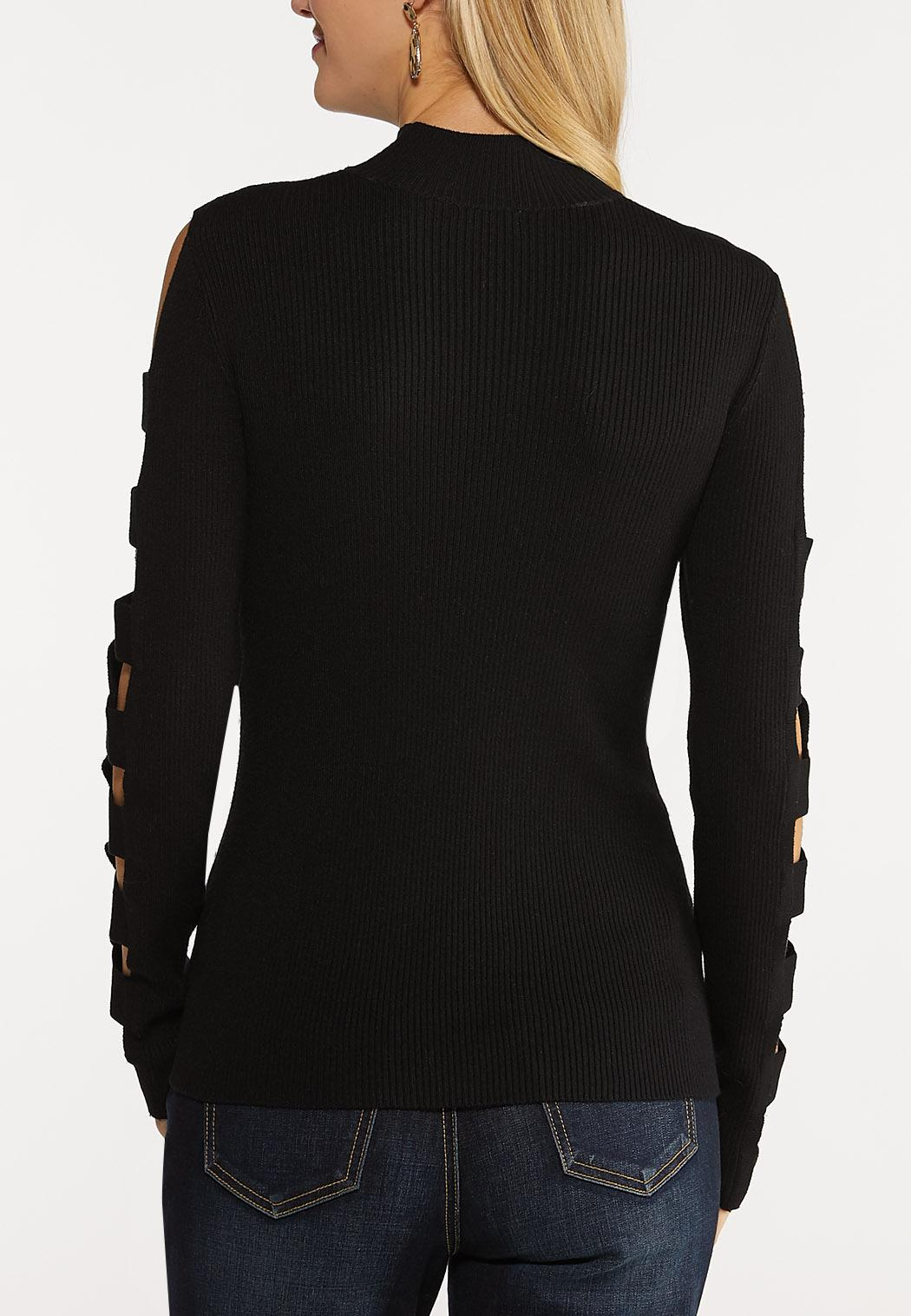 Solid Ladder Sleeve Sweater (Item #44066181)