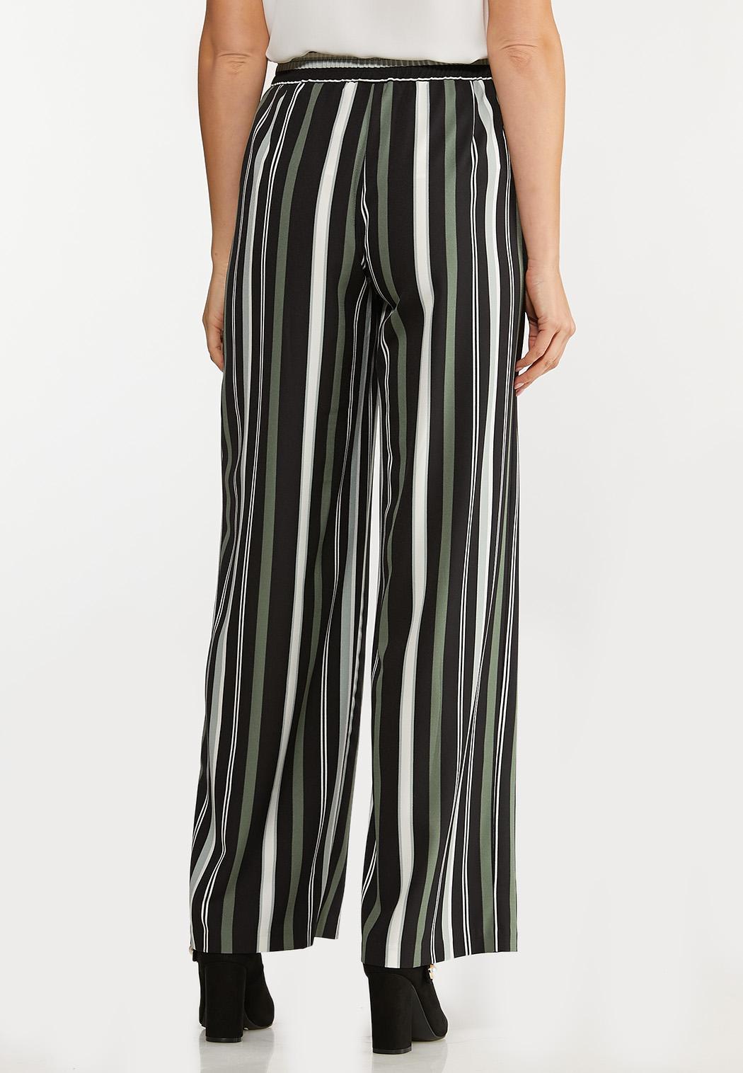 Green Stripe Wide Leg Pants (Item #44066346)