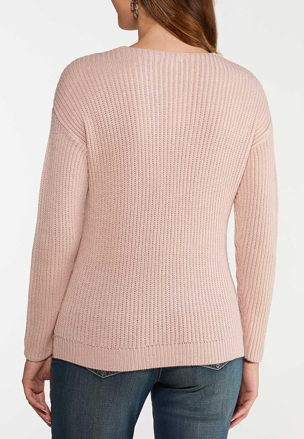 Pink Twist Front Sweater (Item #44066795)