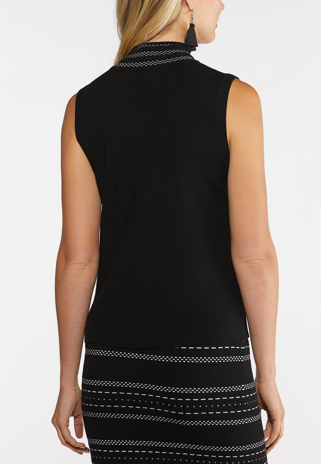 Plus Size Mock Neck Sweater Tank (Item #44066872)