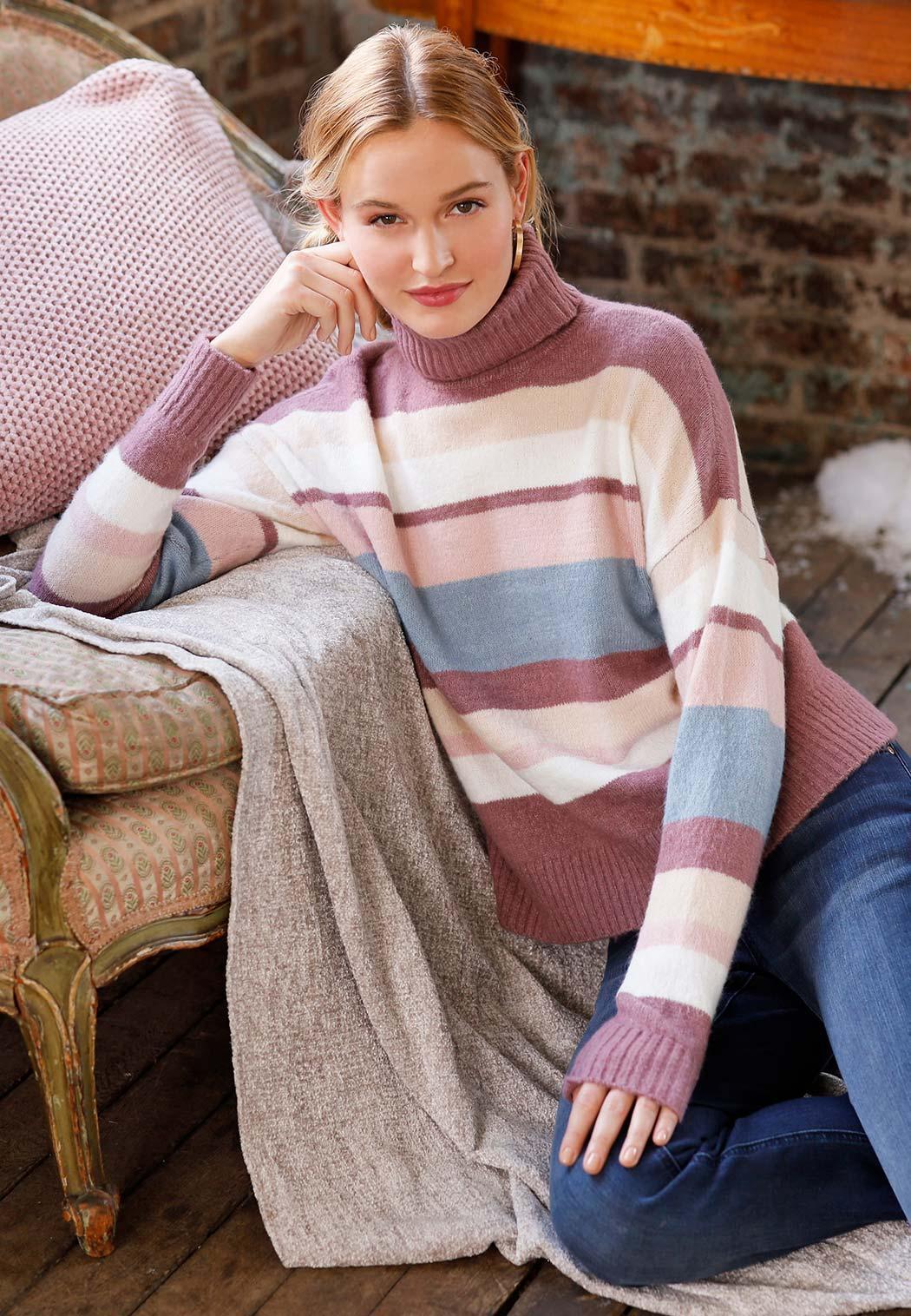 Colorblock Turtleneck Sweater (Item #44067150)