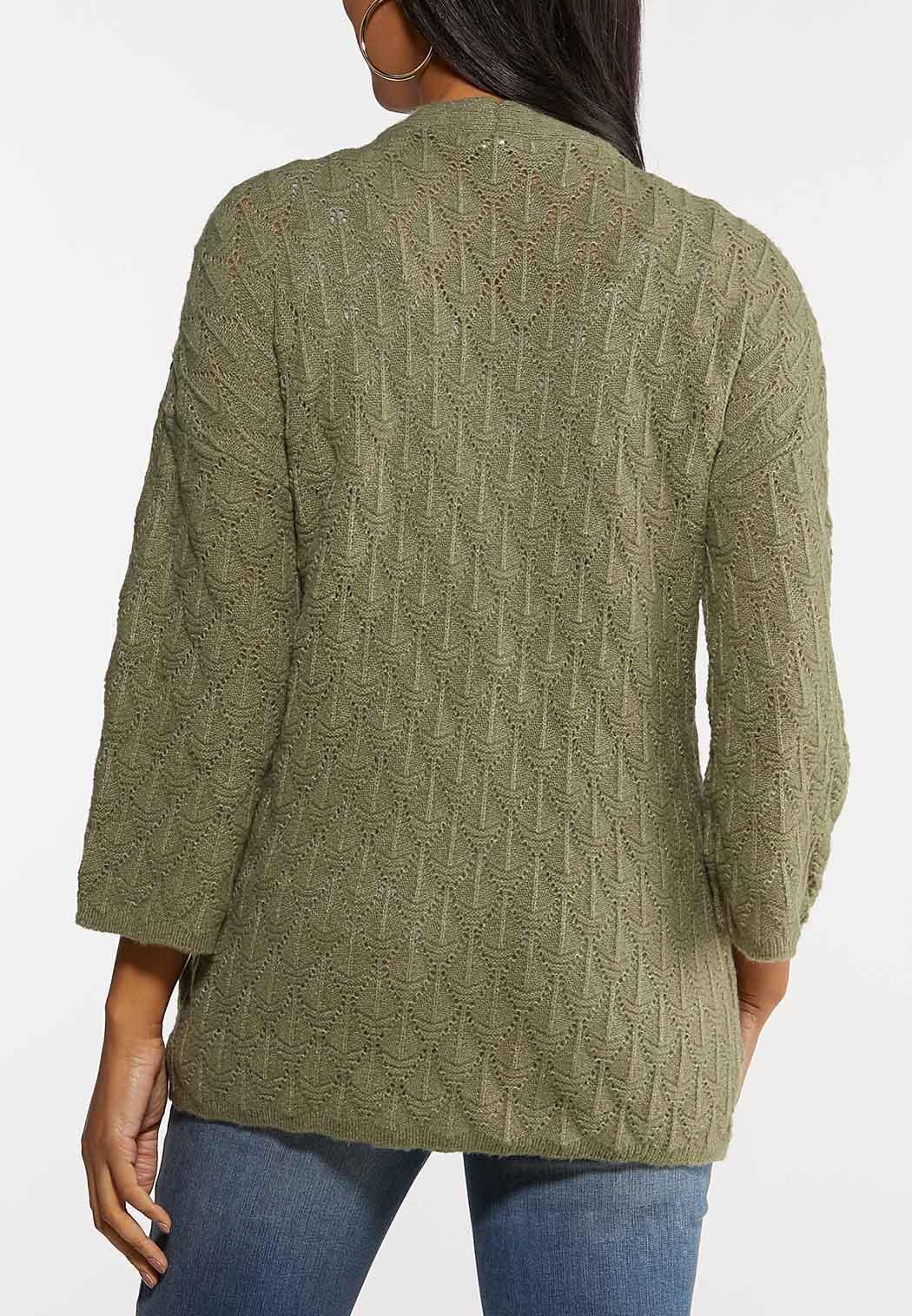 Plus Size Diamond Cardigan Sweater (Item #44067211)