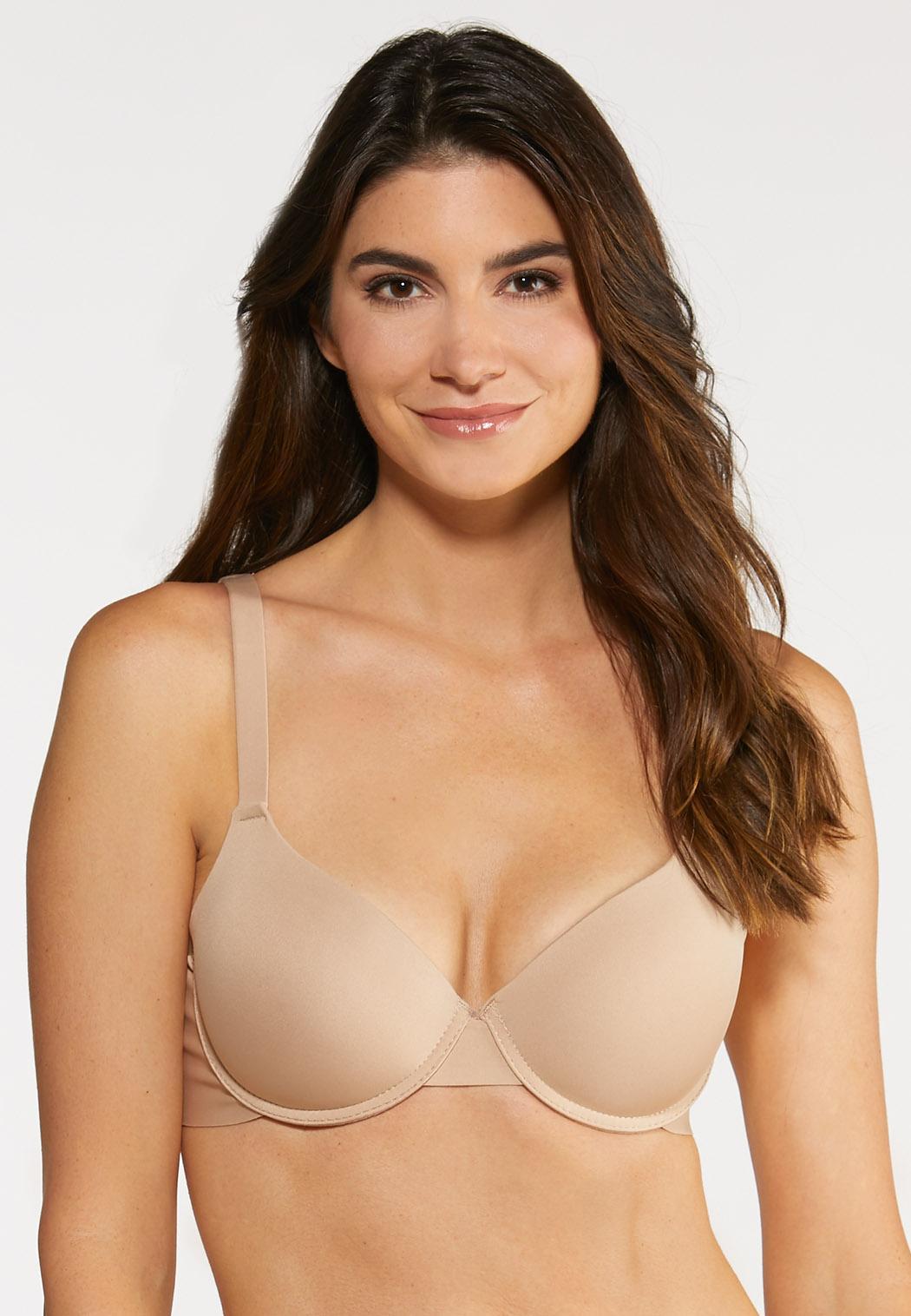 Plus Size Black Lace And Nude Bra Set (Item #44067283)