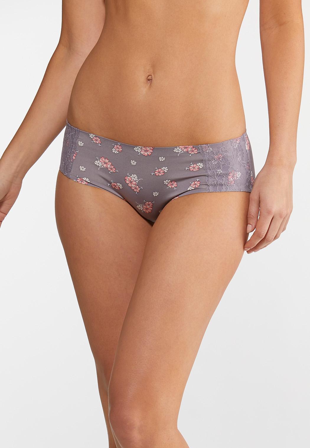 Plus Size Floral Bloom Hipster Panty Set (Item #44067618)