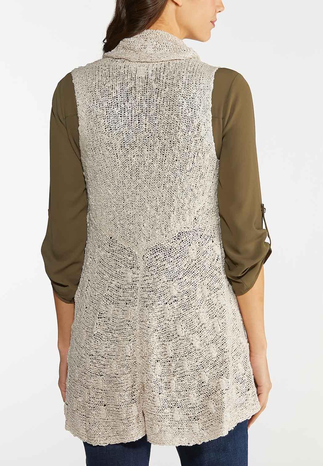 Plus Size Beige Sweater Vest (Item #44067688)
