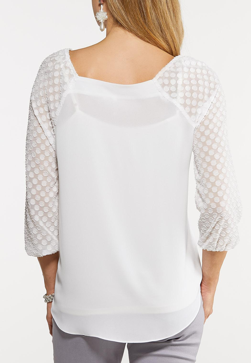Dotted Square Neck Top (Item #44067916)
