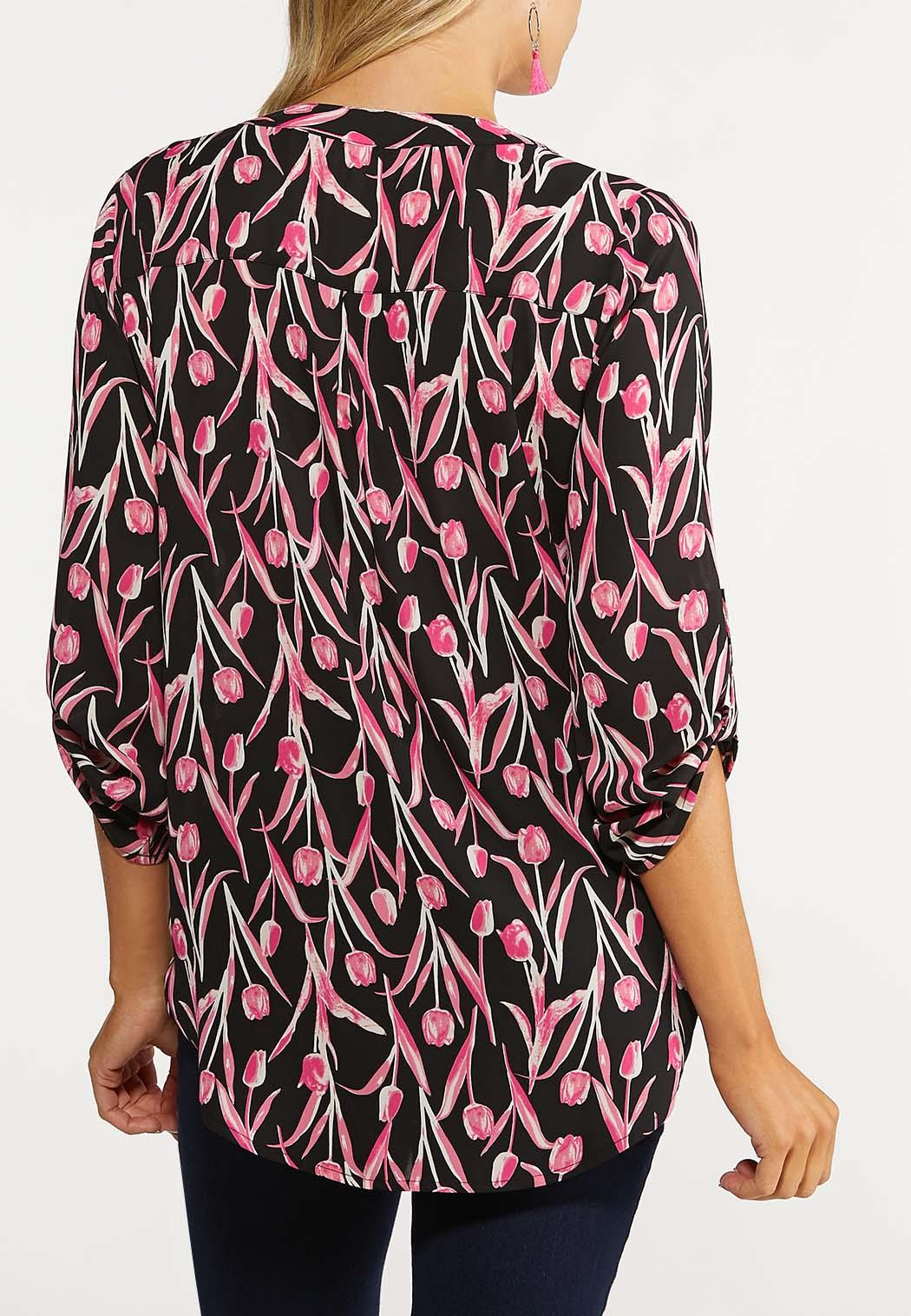 Plus Size Printed Pullover Top (Item #44068043)