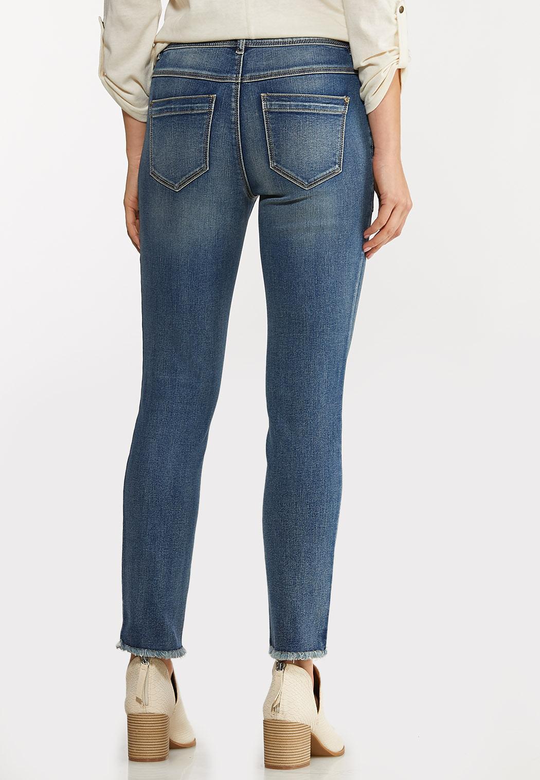 Fray Hem Utility Jeans (Item #44068248)